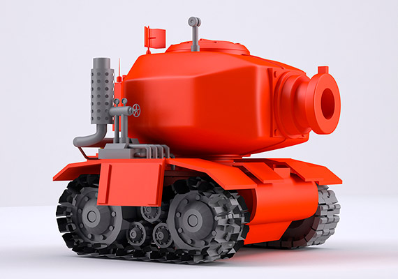 Design and 3D model of a fiction tank inspired in metal slug game series
